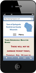 Town of Springvale, Fond du Lac County