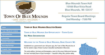 Town of Blue Mounds, Dane County