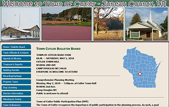 Town of Cutler, Juneau County, WI